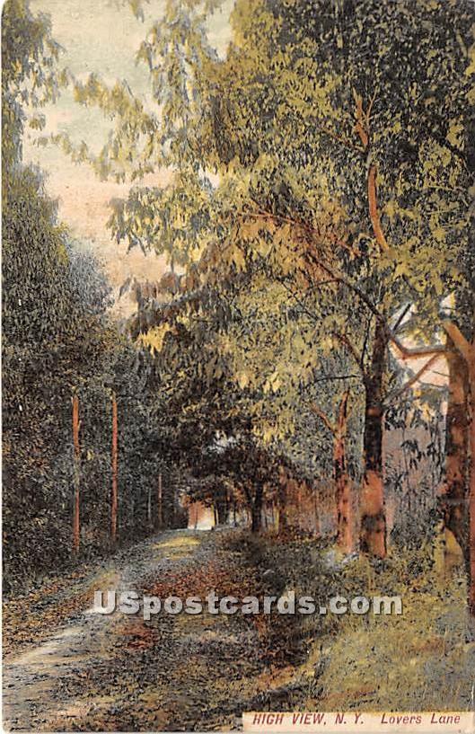 Lovers Lane - High View, New York NY Postcard
