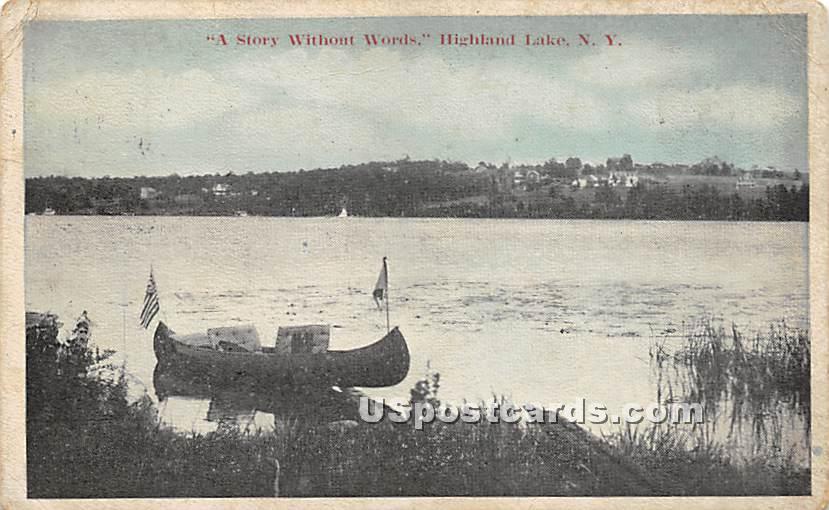 Story without Words - Highland Lake (Venoge, New York NY Postcard