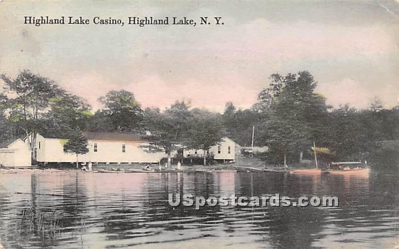 Highland Lake Casino - Highland Lake (Venoge, New York NY Postcard