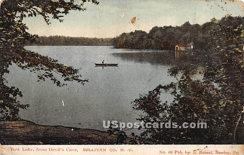 York Lake from Devil's Gate - Highland Lake (Venoge, New York NY Postcard