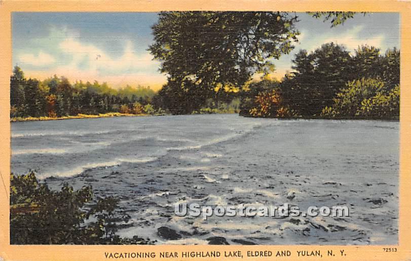 Water Scene - Highland Lake (Venoge, New York NY Postcard