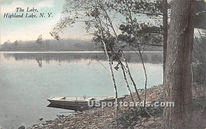 The Lake - Highland Lake (Venoge, New York NY Postcard