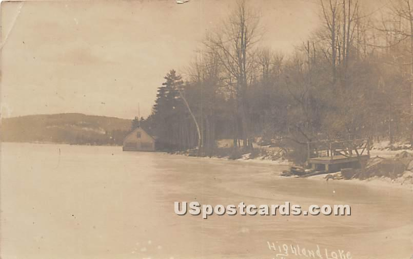 Highland Lake - Highland Lake (Venoge, New York NY Postcard