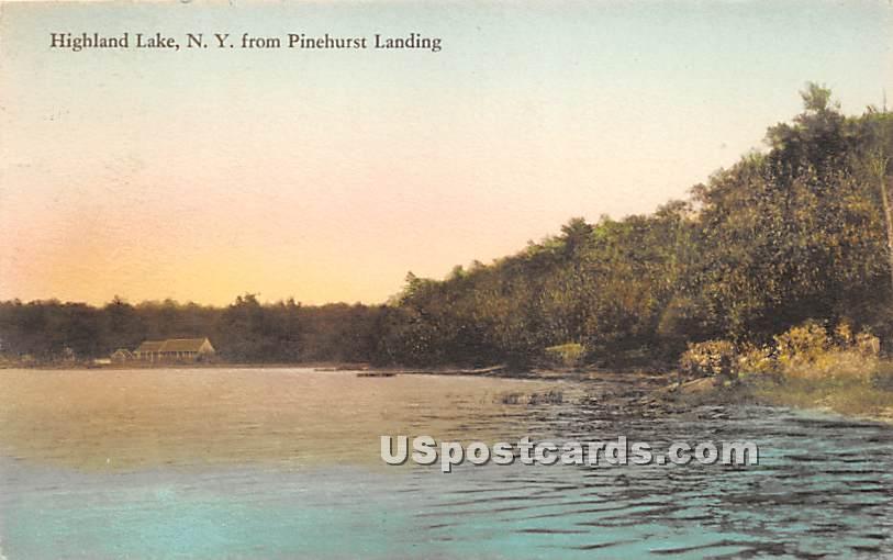View from Pinehurst Landing - Highland Lake (Venoge, New York NY Postcard