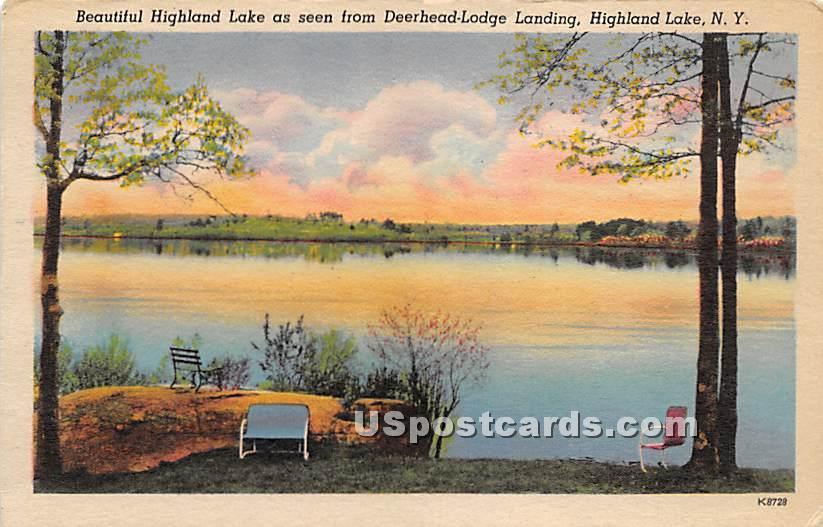 Seen from Deerhead Lodge Landing - Highland Lake (Venoge, New York NY Postcard