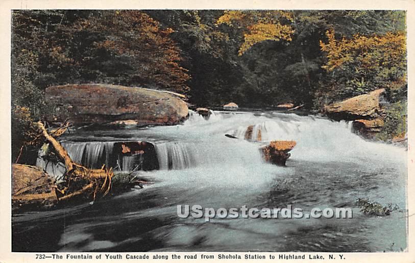 Fountain of Youth - Highland Lake (Venoge, New York NY Postcard