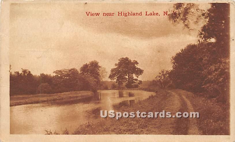 Road Scene - Highland Lake (Venoge, New York NY Postcard