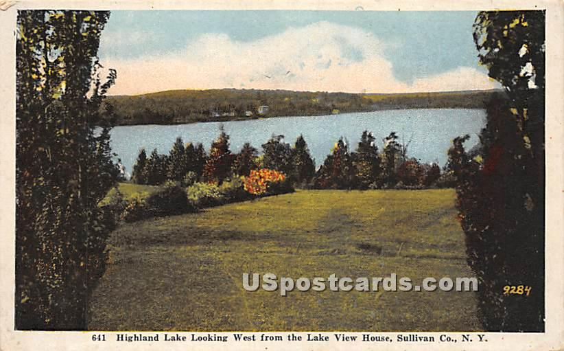 Looking West from the Lake View House - Highland Lake (Venoge, New York NY Postcard