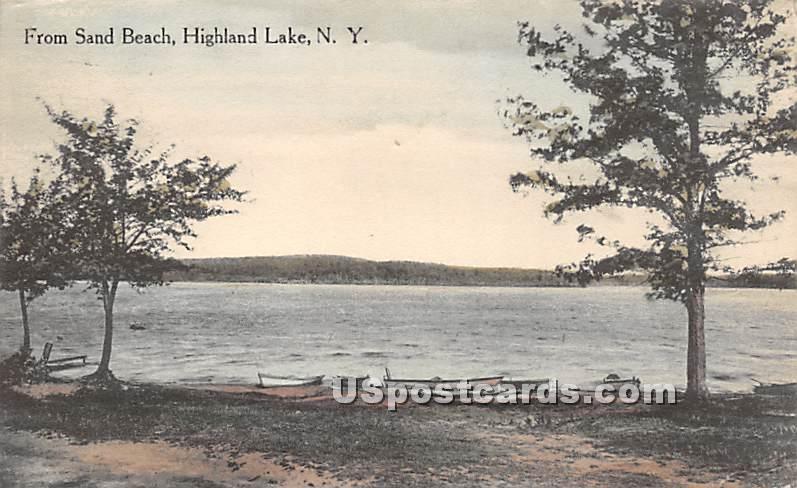 From Sand Beach - Highland Lake (Venoge, New York NY Postcard