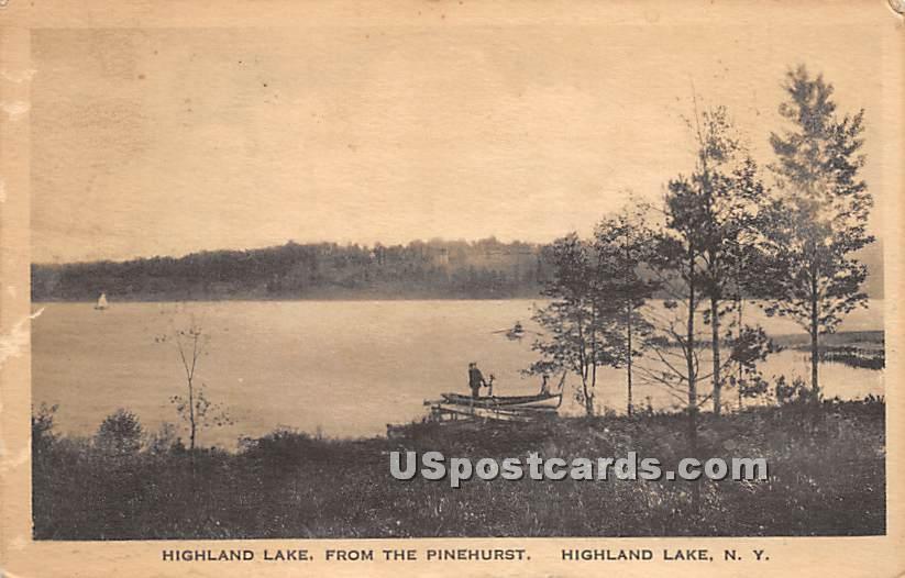 View from the Pinehurst - Highland Lake (Venoge, New York NY Postcard