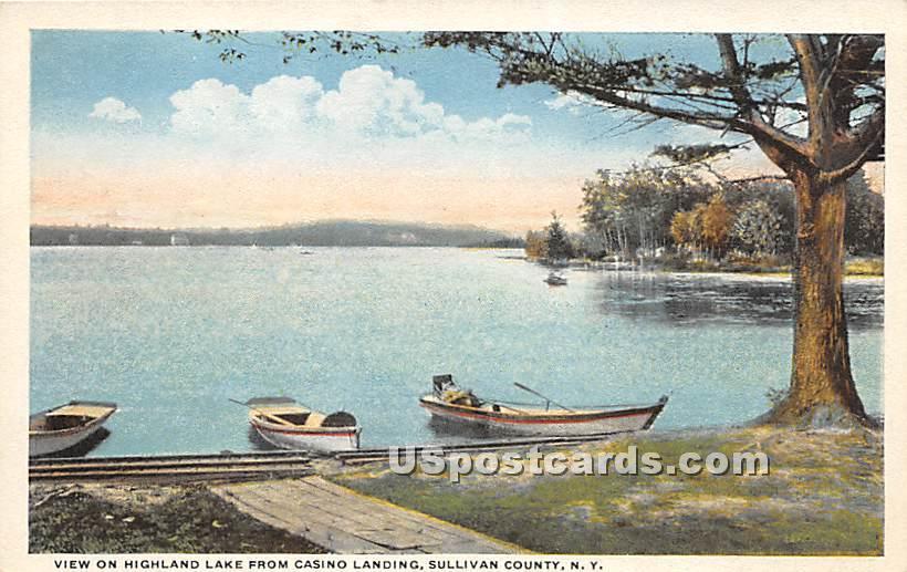 From Casino Landing - Highland Lake (Venoge, New York NY Postcard