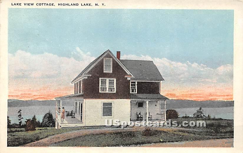 Lake View Cottage - Highland Lake (Venoge, New York NY Postcard