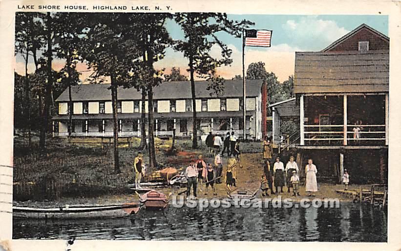 Lake Shore House - Highland Lake (Venoge, New York NY Postcard