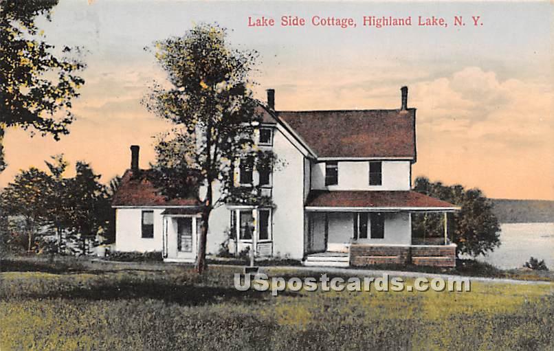 Lake Side Cottage - Highland Lake (Venoge, New York NY Postcard