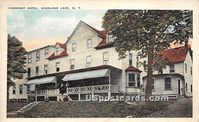 Piermont Hotel - Highland Lake (Venoge, New York NY Postcard