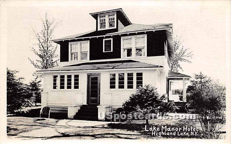 Lake Manor Hotel - Highland Lake (Venoge, New York NY Postcard