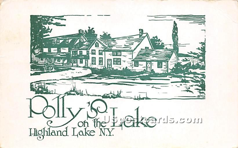 Polly's on the Lake - Highland Lake (Venoge, New York NY Postcard