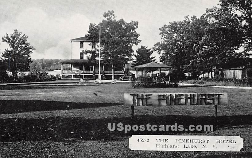 The Pinehurst Hotel - Highland Lake (Venoge, New York NY Postcard