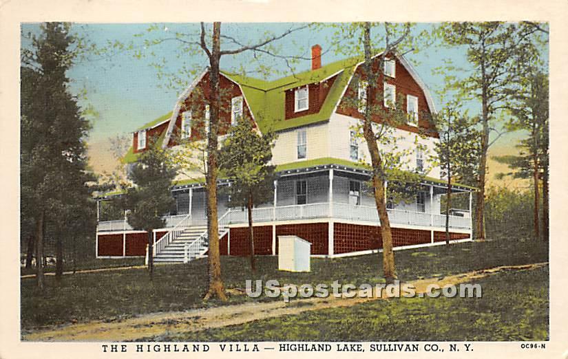The Highland Villa - Highland Lake (Venoge, New York NY Postcard