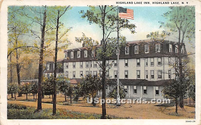 Highland Lake Inn - Highland Lake (Venoge, New York NY Postcard
