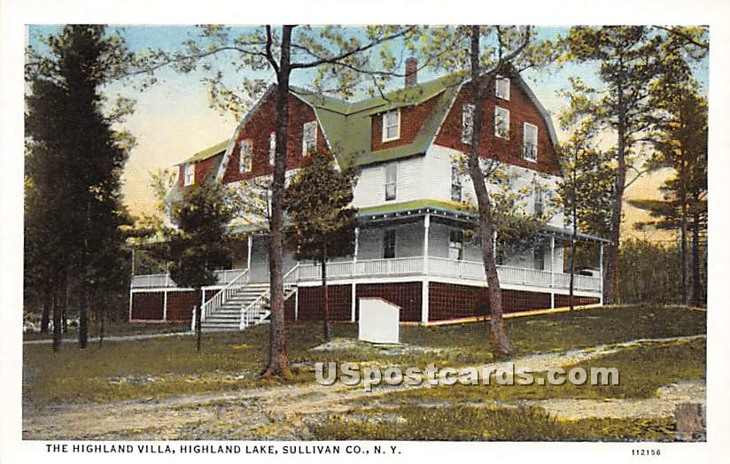 Highland Villa - Highland Lake (Venoge, New York NY Postcard
