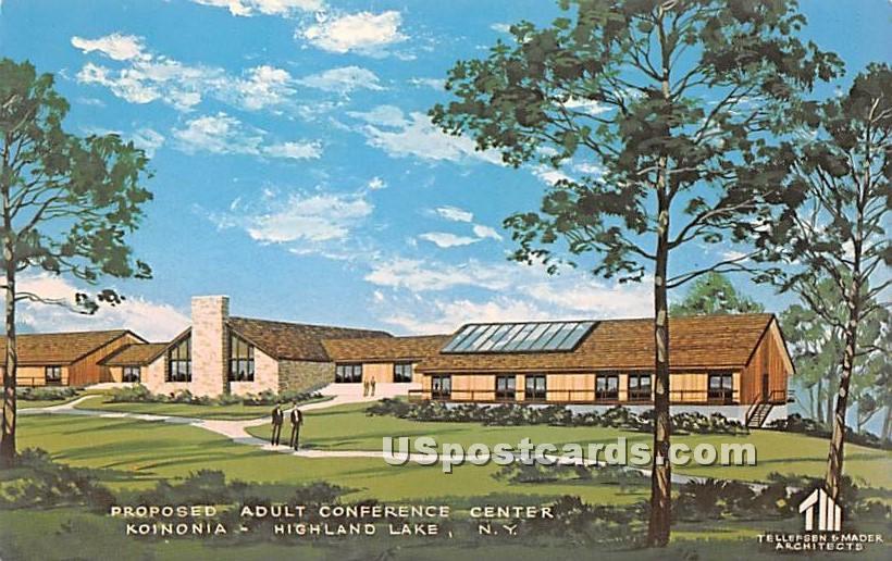Proposed Adult Conference Center - Highland Lake (Venoge, New York NY Postcard