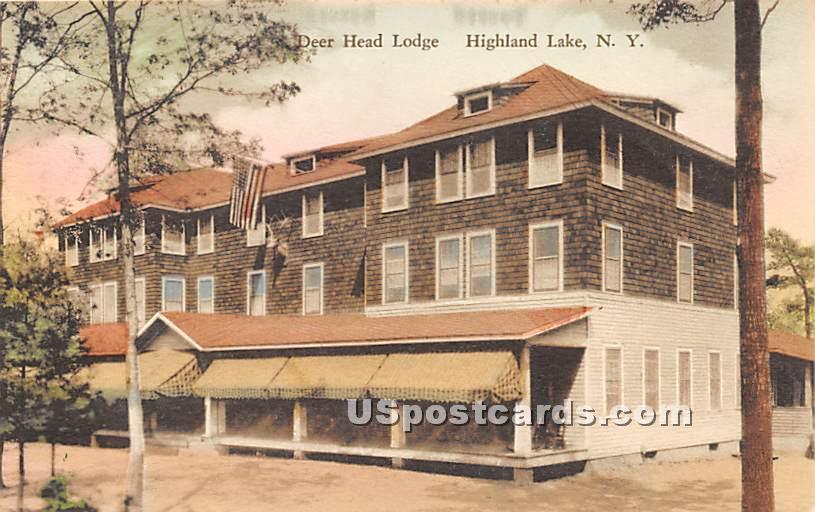 Deer Head Lodge - Highland Lake (Venoge, New York NY Postcard