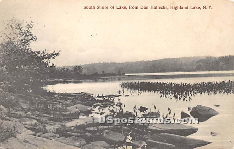 South Shore of Lake - Highland Lake (Venoge, New York NY Postcard