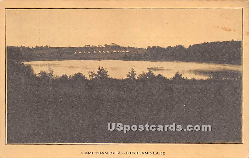Camp Kiamesha - Highland Lake (Venoge, New York NY Postcard