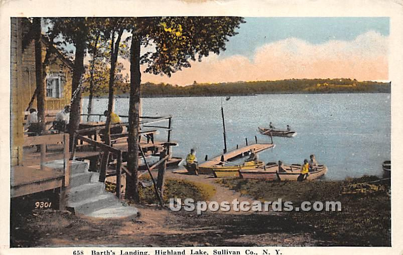 Bath's Landing - Highland Lake (Venoge, New York NY Postcard
