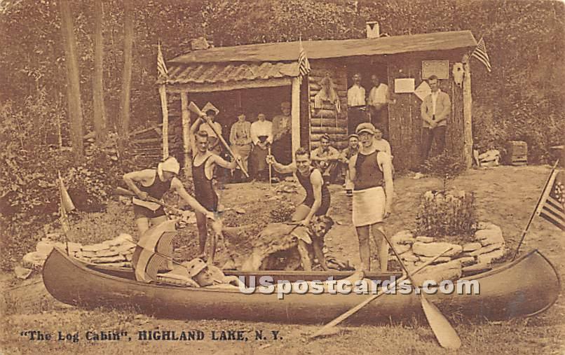 The Log Cabin - Highland Lake (Venoge, New York NY Postcard
