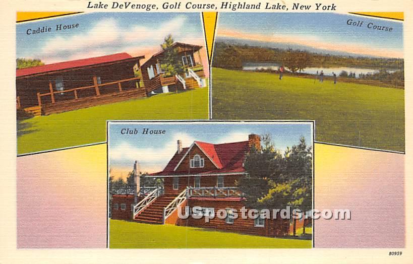 Lake DeVenoge - Highland Lake (Venoge, New York NY Postcard