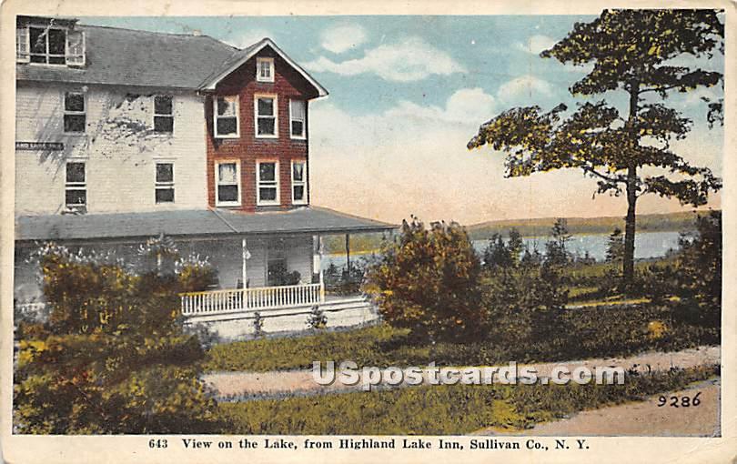 View on the Lake from Highland Lake Inn - Highland Lake (Venoge, New York NY Postcard