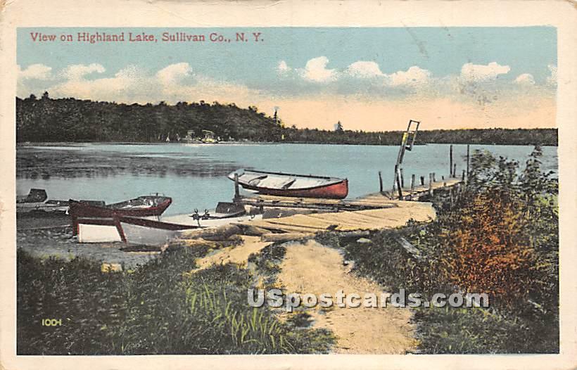 View of Lake - Highland Lake (Venoge, New York NY Postcard
