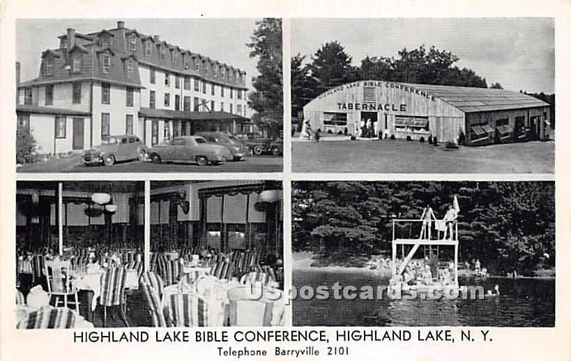 Highland Lake Bible Conference - Highland Lake (Venoge, New York NY Postcard