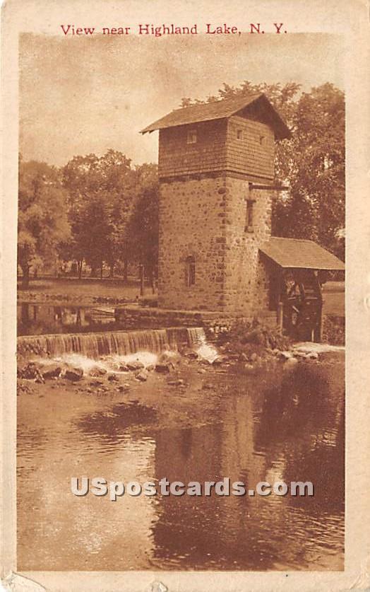 Falls - Highland Lake (Venoge, New York NY Postcard