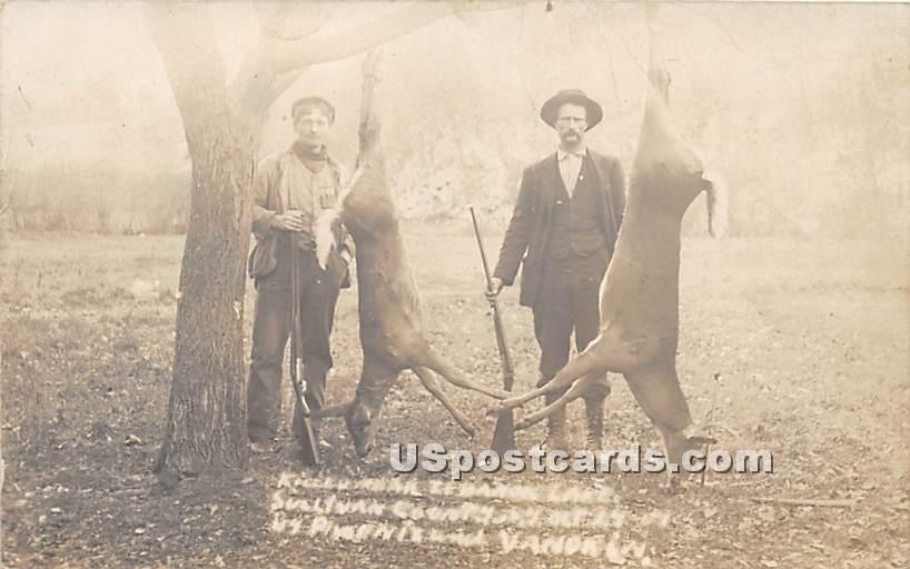 Hunting - Highland Lake (Venoge, New York NY Postcard