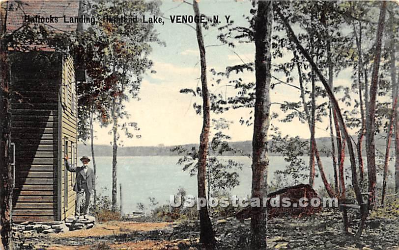 Hallocks Landing - Highland Lake (Venoge, New York NY Postcard