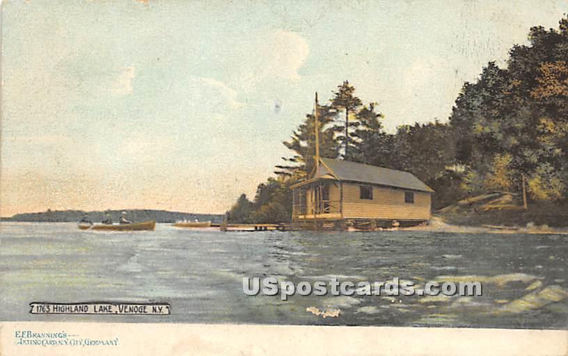 Lake View - Highland Lake (Venoge, New York NY Postcard