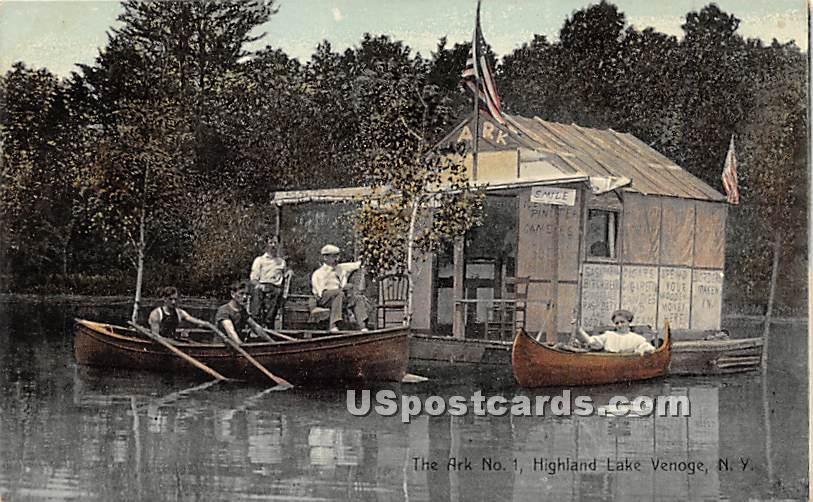 The Ark No 1 - Highland Lake (Venoge, New York NY Postcard