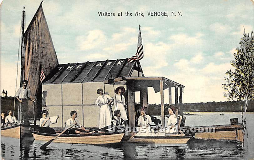 Visitors at the Ark - Highland Lake (Venoge, New York NY Postcard