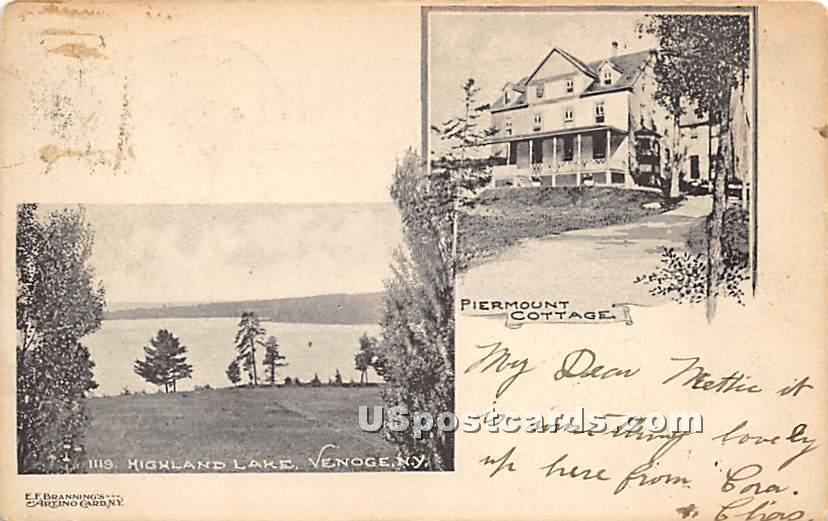 Piermount Cottage - Highland Lake (Venoge, New York NY Postcard