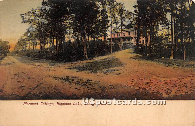 Piermont Cottage - Highland Lake (Venoge, New York NY Postcard