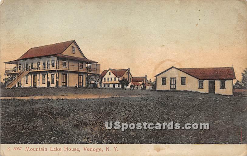 Mountain Lake House - Highland Lake (Venoge, New York NY Postcard