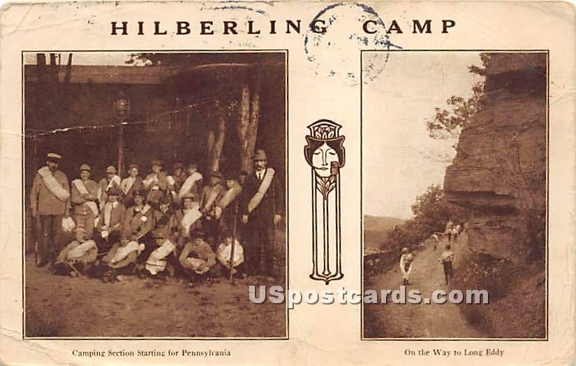 Hilberling Camp - Hortonville, New York NY Postcard