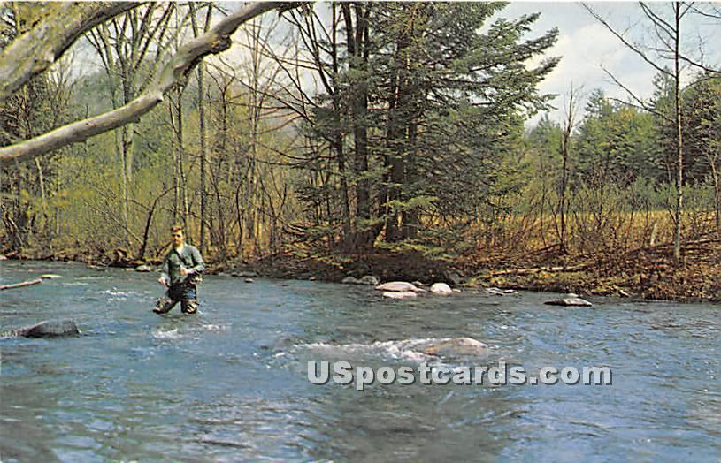 River Scene - Hurleyville, New York NY Postcard