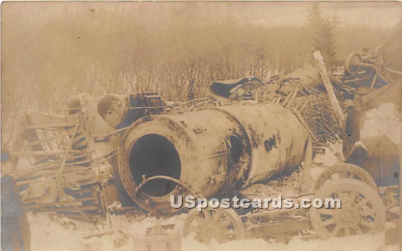 Wreckage - Hurleyville, New York NY Postcard