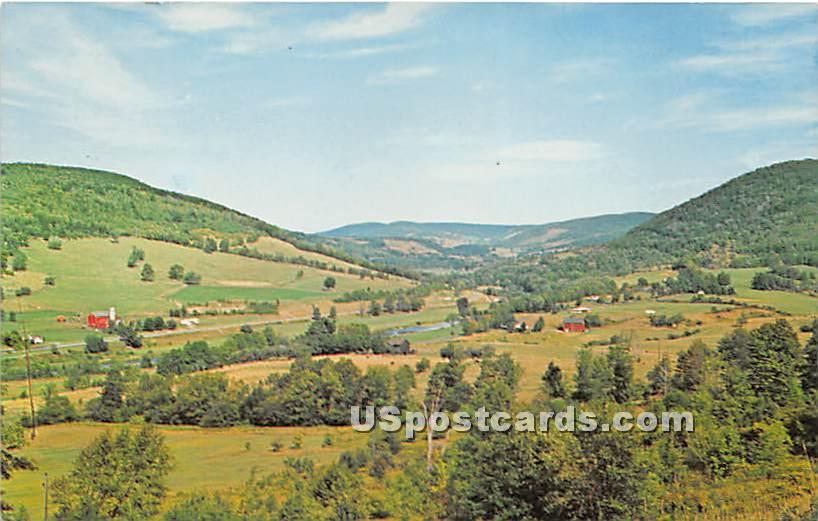 Delaware River Valley - Hurleyville, New York NY Postcard