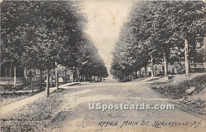 Upper Main Street - Hurleyville, New York NY Postcard