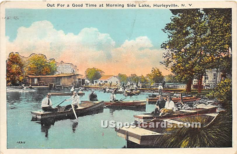 Out for a Good Time - Hurleyville, New York NY Postcard
